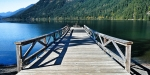 Dock at Lake Crescent Lodge